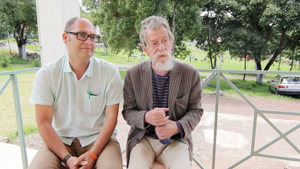 Our Founder Jonathan Crown and Patron Sir John Hurt 2014
